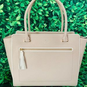 Kate spade Allyn Chester Street Cream Tote leather